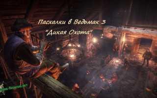 9 часть: пасхалки в Ведьмак 3: Дикая Охота