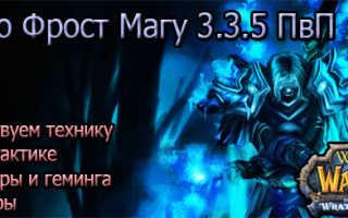 Гайд по фрост PvP магу в World of Warcraft: Wrath of the Lich King